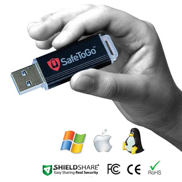 SafeToGo 302E est une clé USB sécurisée cryptée AES 256 bits mode CBC au niveau matériel et robuste.